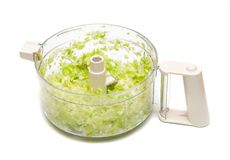 Crushed salad in plastic Royalty Free Stock Photos