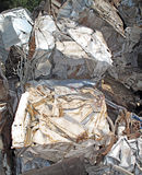 Crushed Scrap Metal. Royalty Free Stock Photography