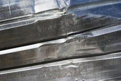 Crushed sheet iron Royalty Free Stock Photos