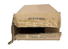 Crushed Shipping Box royalty free stock photo