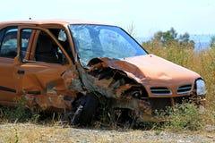 Crushed small car stock photos