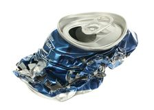 Crushed Soda Can Royalty Free Stock Images