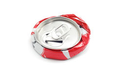 Crushed soda can Royalty Free Stock Photos