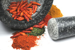 Crushed spices Royalty Free Stock Images