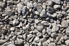 Crushed stone. Path from the gravel, shined by the sun Royalty Free Stock Photos