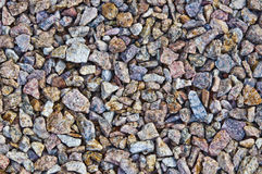 Crushed stone Royalty Free Stock Photos