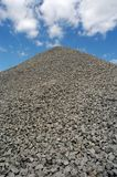 Crushed Stone. Large pile of crushed stone with sky in background Stock Photography