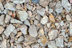 Crushed stone as natural background. Crushed stone closeup, gravel texture as natural background Stock Images