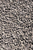 Crushed stone, brown gravel closeup Stock Photography
