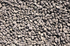 Crushed stone, brown gravel closeup Stock Images