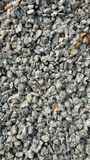 Crushed stone. Is used as building materials along with cement and sand royalty free stock images