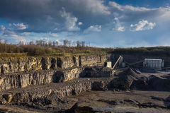 Crushed stone factory in a quarry Royalty Free Stock Images