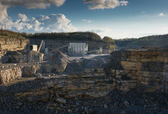 Crushed stone factory in a quarry Royalty Free Stock Photo