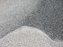 Crushed stone gravel used in construction. stock images
