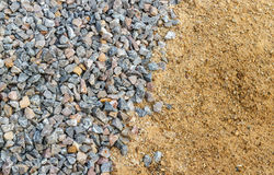 Crushed stone and sand Stock Photography