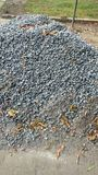 Crushed stone. Is used as building materials along with cement and sand royalty free stock photo