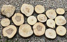Crushed stone, wood. Stock Photography