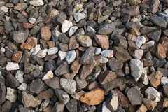 Crushed stones Stock Images
