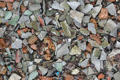Crushed stones with slate aggregate stock image