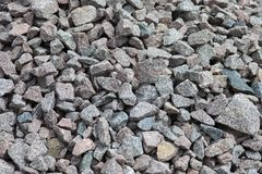 Crushed stones texture or background Stock Photography