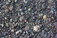 Texture of granite rubble stock image