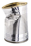 Crushed tin can Royalty Free Stock Photography