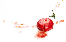 Crushed tomato Royalty Free Stock Photo