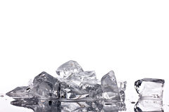 Crushed translucent  ice Stock Photo