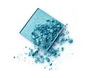 Crushed turquoise eye shadow Royalty Free Stock Photo