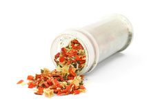 Crushed vegetable flake seasoning Royalty Free Stock Images