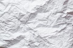 White crumpled paper background Stock Images