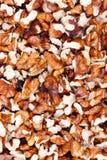 Crushed walnut background Royalty Free Stock Photo