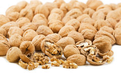 Crushed walnuts Stock Images