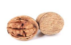 Crushed walnuts on white background Royalty Free Stock Photo