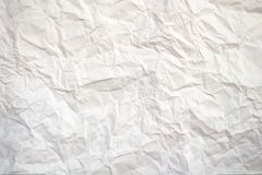 Crushed white paper. Image of a crushed white sheet of paper Royalty Free Stock Images