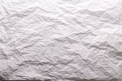 Crushed white paper Stock Image