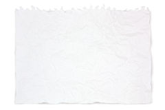 Crushed white paper Royalty Free Stock Image