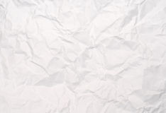 Crushed white paper texture Royalty Free Stock Photo