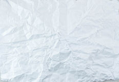 Crushed White Paper Texture Stock Image