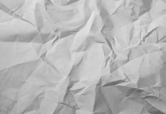 Crushed white paper texture stock photo