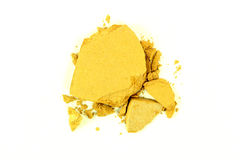 Crushed Yellow Eyeshadow Stock Photo