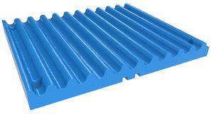 Crusher jaw plate stock photography