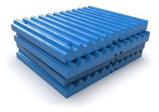 Crusher jaw plate stock images