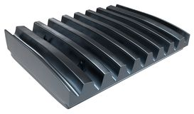 Crusher jaw plate stock image