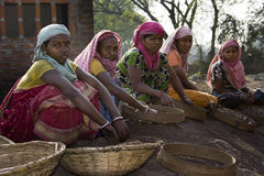 Indian woman labours at rest Stock Photo