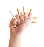 Crushing cigarettes Stock Photography