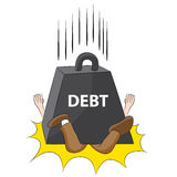 Crushing Debt Stock Image