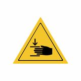 Crushing of hands sign vector design Royalty Free Stock Photography