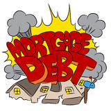 Crushing Mortgage Debt Royalty Free Stock Photography