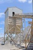 Crushing plant and limestone mine Stock Photo